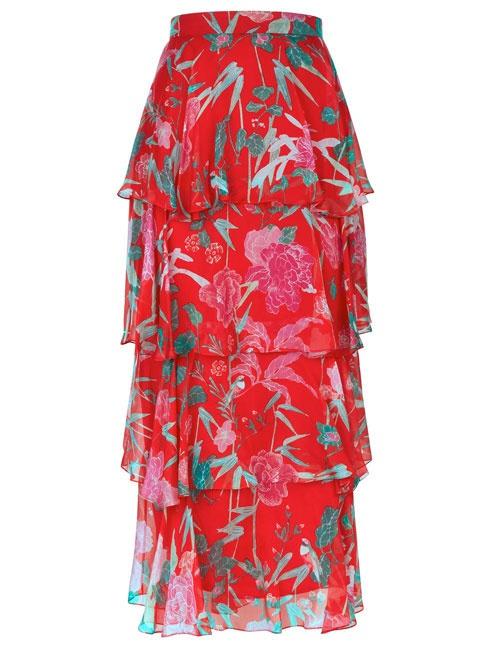 Seren Floral Tiered Skirt