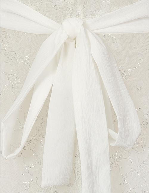 Brigitte White Metallic Gown