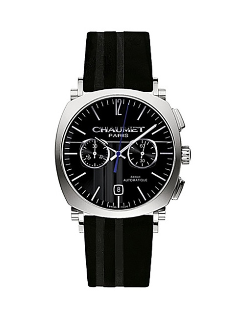 W11290-30A MEN'S Dandy Stainless Steel and Leather Chronograph Watch