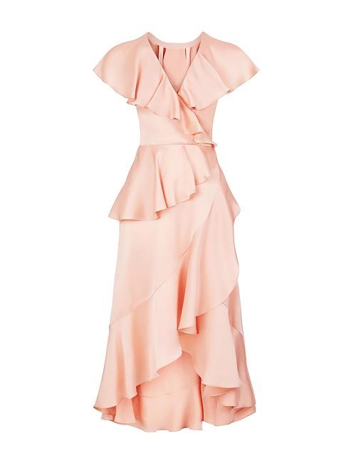 Juliette crepe wrap dress