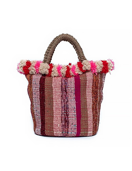 Jewel Red & Pink Venice Koy Tote
