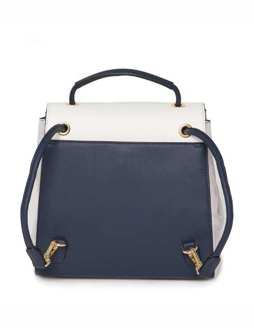 Cream And Navy Luna Back Pack