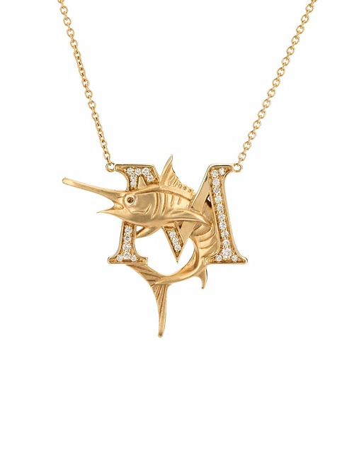 M is for Marlin Necklace