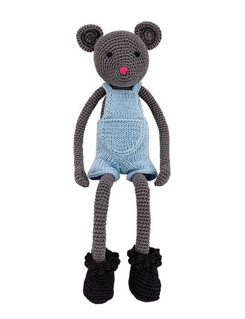 Dorian Grey Mouse Baby Blau Leggybuddy - L