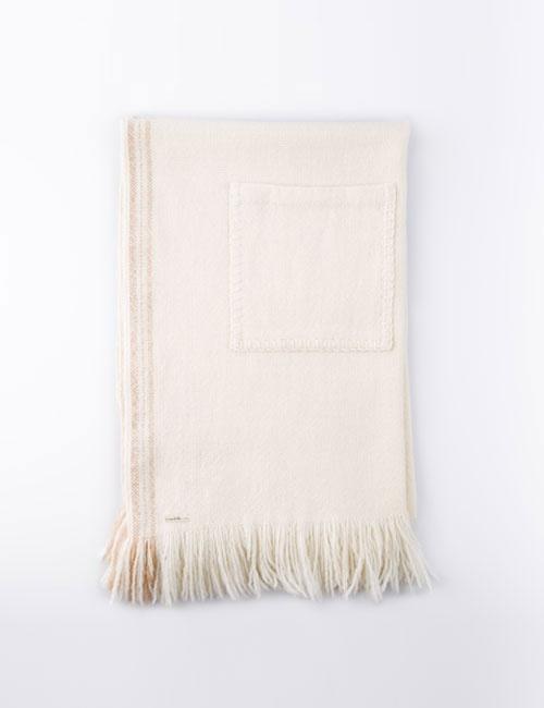 Hand Woven Pocket Merino Shawl
