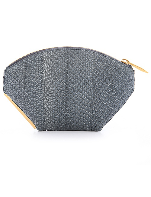 Ella Clutch in Stone Grey