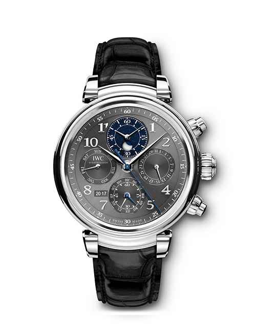 Da Vinci Perpetual Calendar Chronograph Stainless Steel with Black Alligator Strap