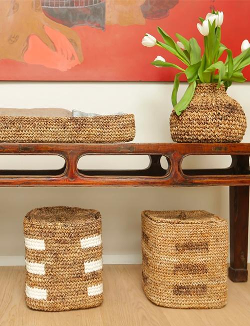 The Striped Storage Basket