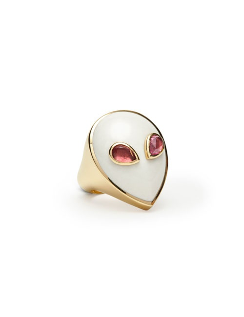 Alien Ring Yellow Gold