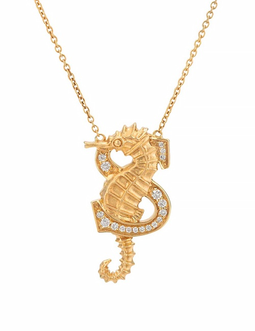 S is for Seahorse Necklace