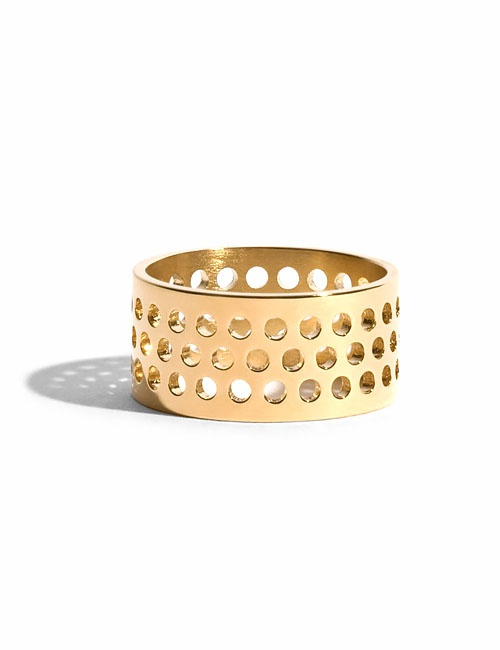 Voids Ring in Ethical Yellow Gold