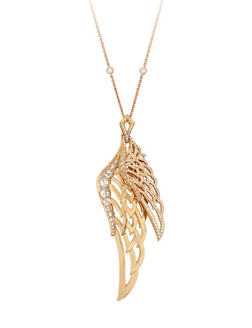 Wings Lace Double Pendant Necklace