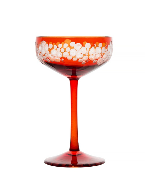 Isadora Champagne Saucer - Burnt Orange