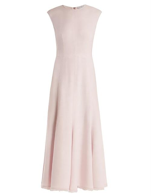 Crowther round-neck sleeveless midi dress