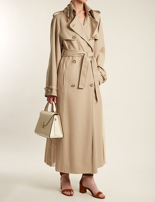 Lorna double-breasted wool trench coat