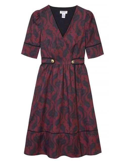 Roselyn Burgundy Dress