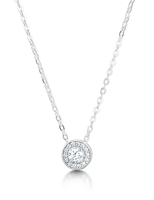 Round Cluster Halo Diamond Pendant