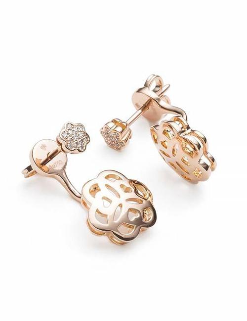 Mandala Collection Earrings Rose