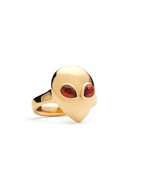 Alien Pinky Yellow Gold