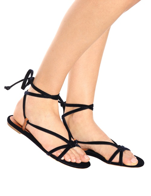 Reeves Velvet Tie Sandals