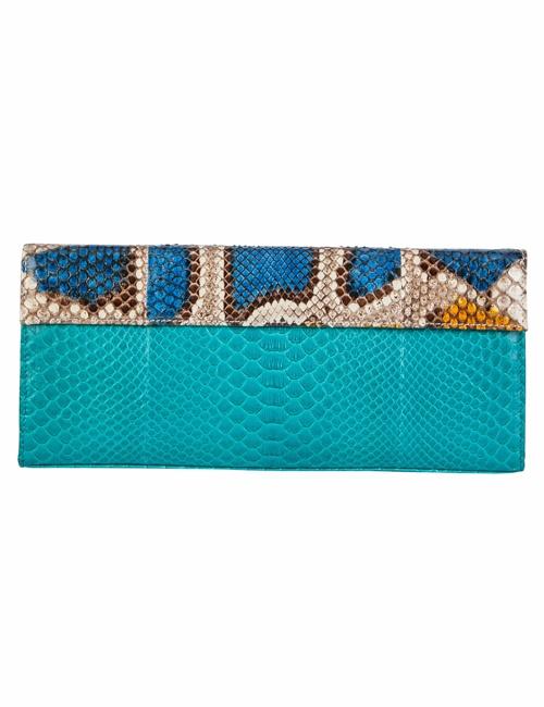 Aria - Python Turquoise and Handpainted Rainbow