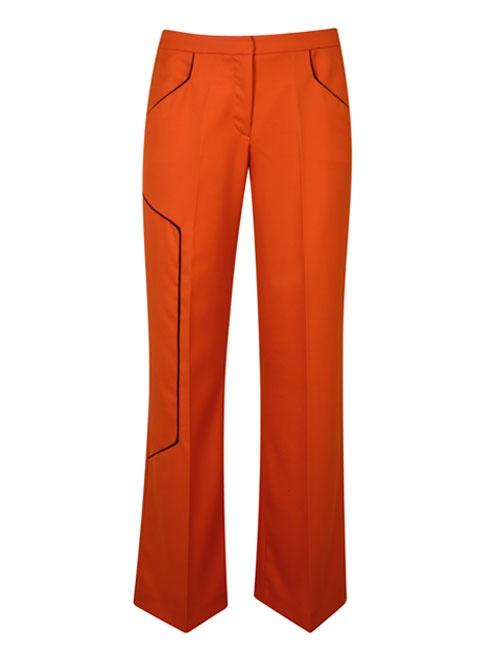 Orange Rhea Trousers