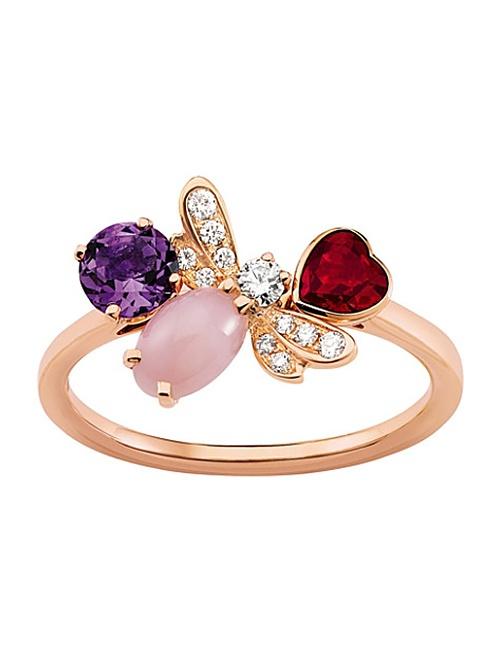 Attrape-moi Si Tu Maimes 18ct Rose-Gold and Diamond Ring