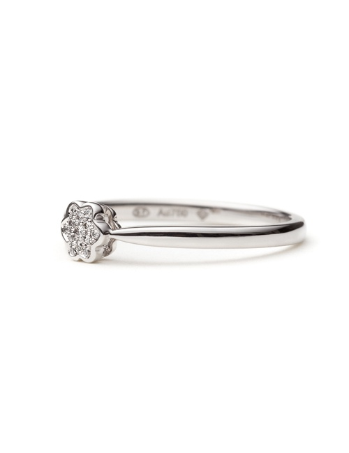 Tiny Mandala Collection Ring White