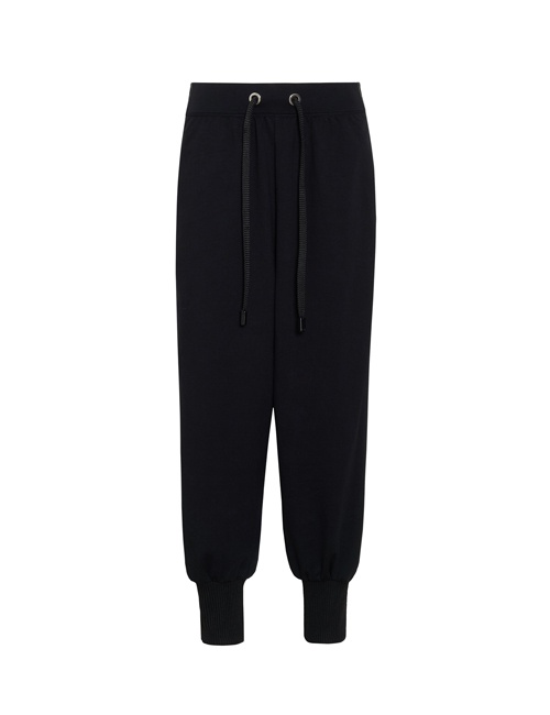 Ano'e striped stretch cotton-blend track pants