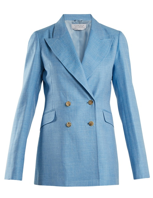 Angela Wool and Silk Blend Blazer