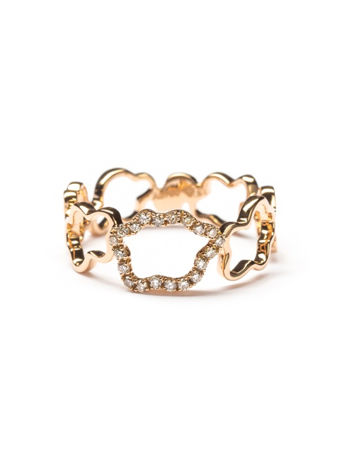 Golden Clouds Collection Ring Band